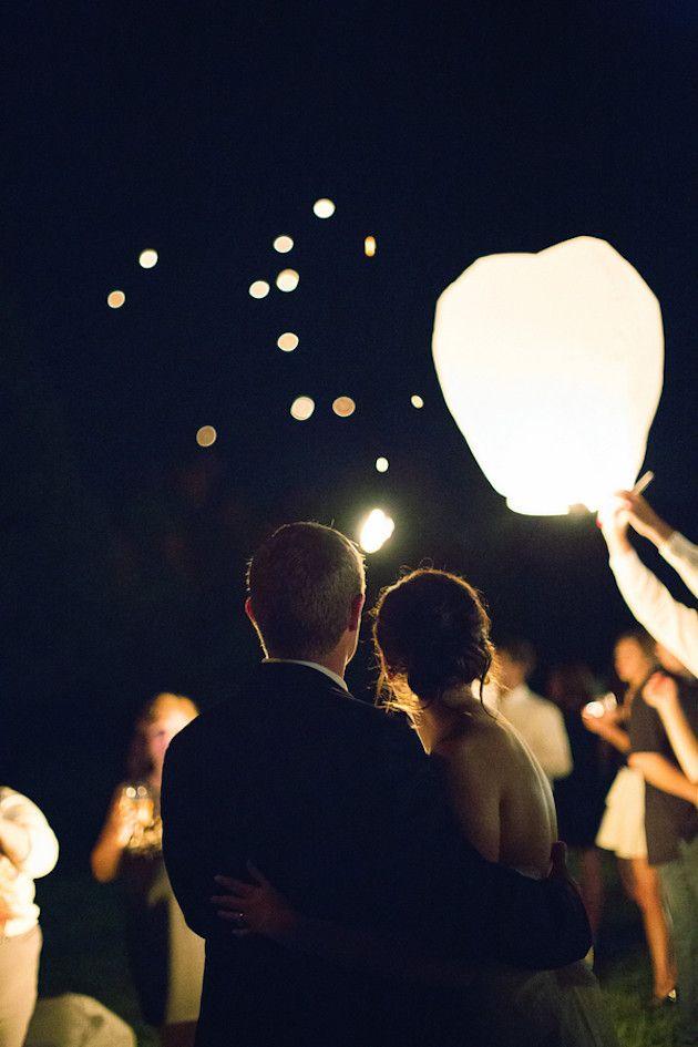 lancé de lanterne lors d'un mariage